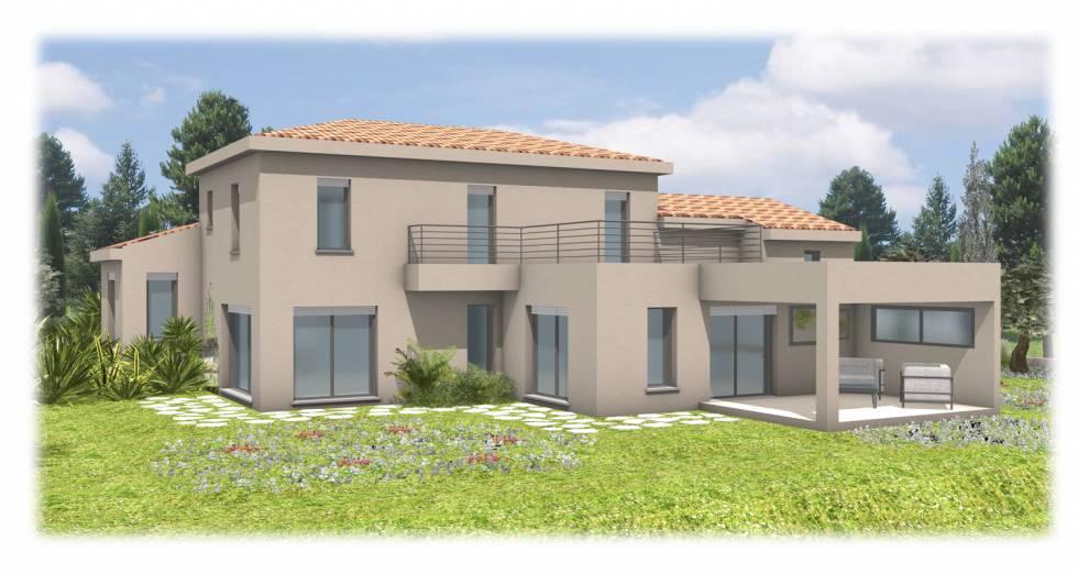 Projet d 39 une villa n o proven ale mougins 06 bureau d 39 tude para - Maison provencale moderne ...
