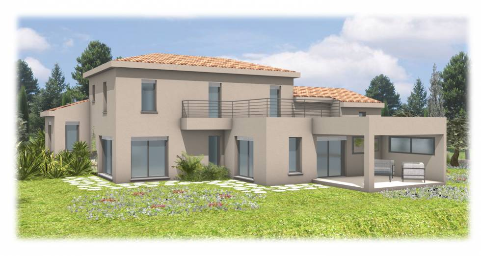 projet d 39 une villa n o proven ale mougins 06 bureau d. Black Bedroom Furniture Sets. Home Design Ideas