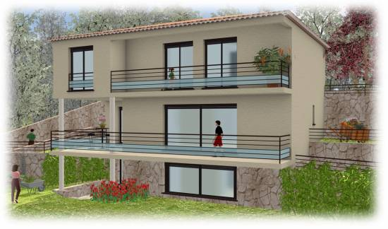 Projet de villas Contemporaines, Cannes. 06