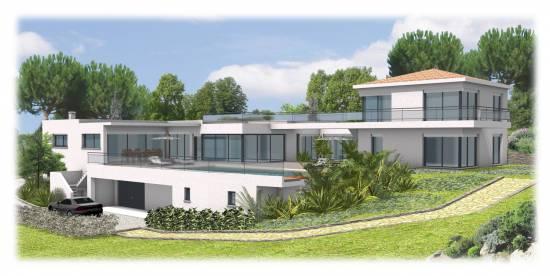 Projet d 39 une villa contemporaine cavalaire sur mer 83 for Maison moderne 83